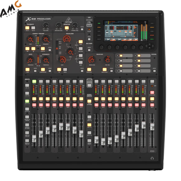 Behringer X32 Producer 40-Input 25-Bus Digital Mixing Console w 16 Mic Preamps - Studio AMG