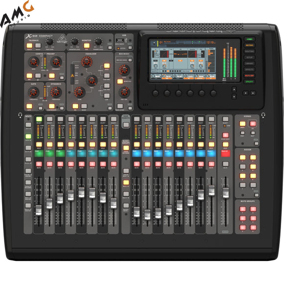 Behringer X32 Compact 40-Input 25-Bus Digital Mixing Console w 16 Mic Preamps - Studio AMG