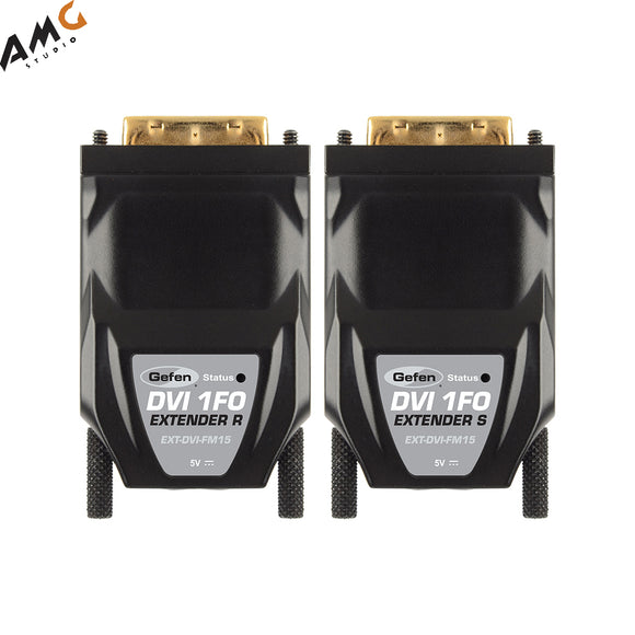 Gefen EXT-DVI-FM15 DVI Fiber Optic Module Extender with Virtual EDID - Studio AMG