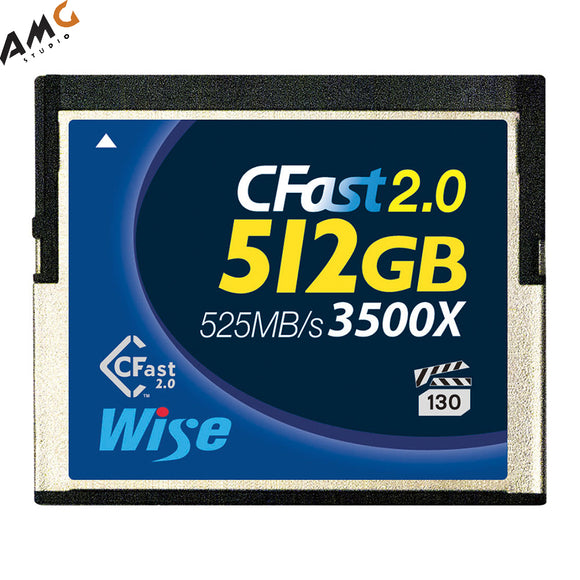 Wise 3500x 512GB CFast 2.0 Memory Flash Card (Lexar / Sandisk) URSA Blackmagic - Studio AMG