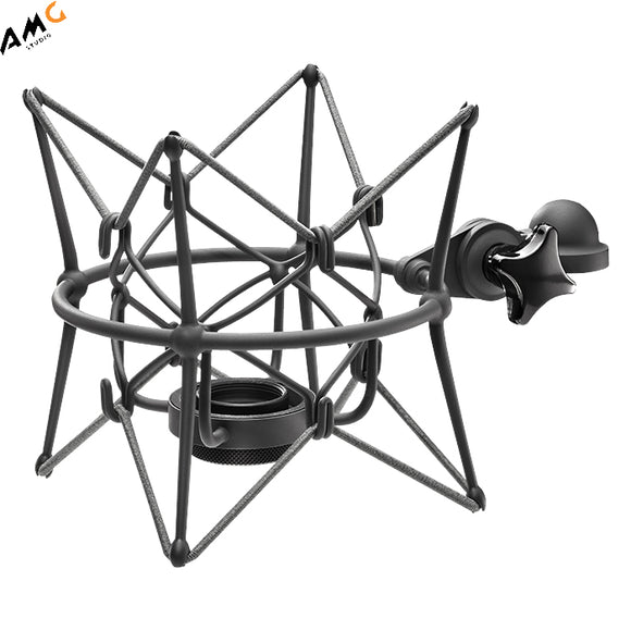 Neumann EA 89A Elastic Suspension Shock Mount for use with Neumann U89 Microphones (Nickel | Black) - Studio AMG
