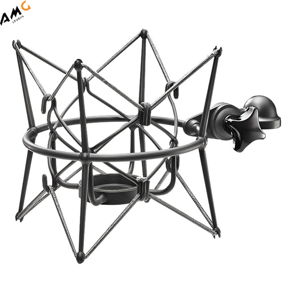 Neumann EA 170 - Elastic Suspension Shock Mount for TLM170 and M149TUBE Microphones (Nickel | Black) - Studio AMG