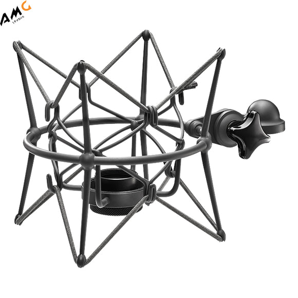 Neumann EA87 - U87 Shock Mount for U87 Microphones (Nickel | Black) - Studio AMG