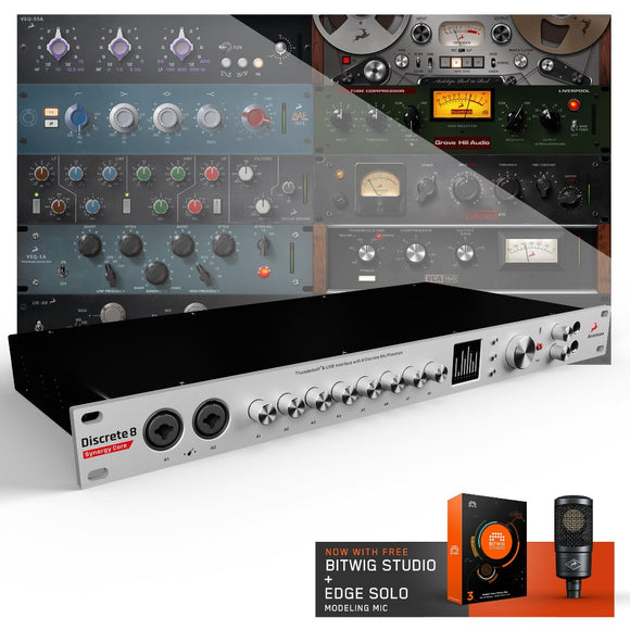 Antelope Discrete 8 Synergy Core Thunderbolt & USB Audio Interface with DSP & FGPA Processing with Antelope Edge Solo and Bitwig Studio 3 Software