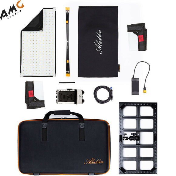 Aladdin Bi-Fabric2 Kit with Case and Battery Plate (Gold Mount/V-Mount) - Studio AMG