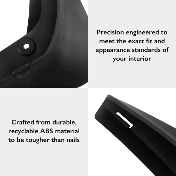Mud Flaps For Model 3, No Drilling Required Splash Guards, 3M Double-Sided Tape Included - Set of 4