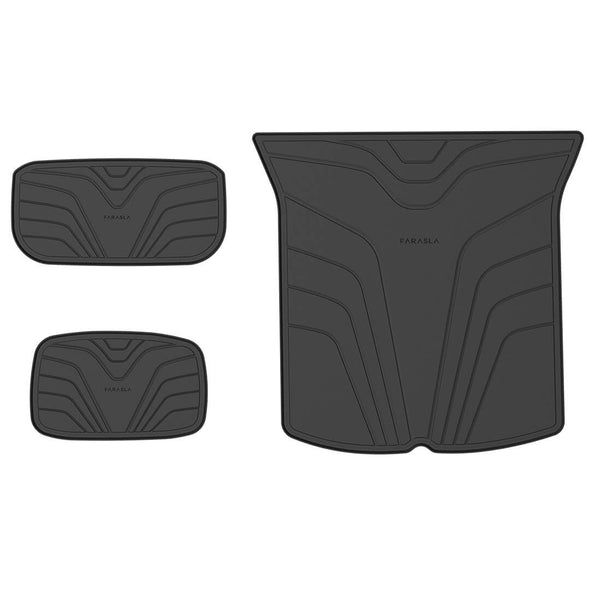 Floor Mats + Rear Trunk Mat for Model Y, All Weather Cargo Liner, 6 Sets