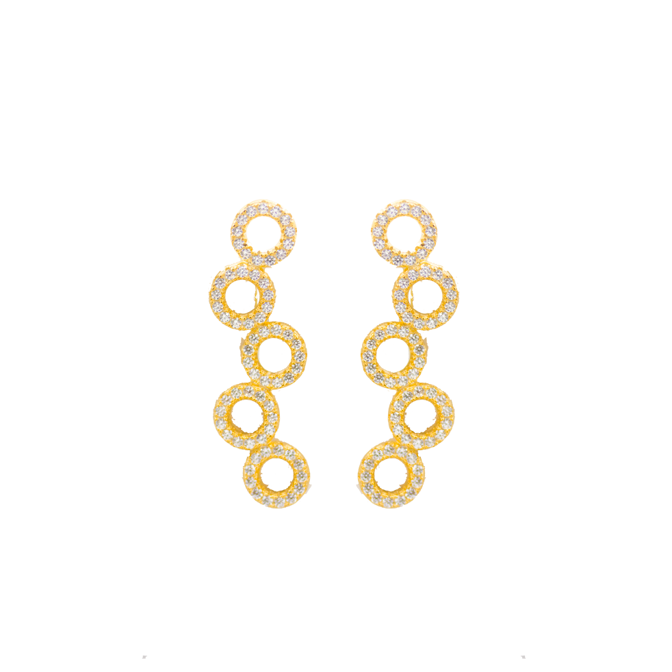 These 925 sterling silver ear climbers are perfect to wear for any occasion  14K Gold and 14k Rose Gold Plated  Each ear climber has high quality cubic zirconia  Lead and nickel free  Hypoallergenic