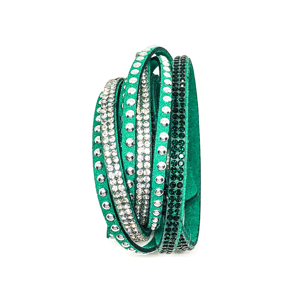 Multilayer Wrap Bracelet - Emerald Green