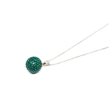 Load image into Gallery viewer, Emerald Ball Pendant