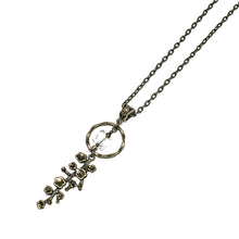 "Load image into Gallery viewer, This brass necklace is designed and handcrafted by a Canadian Artisan with a beautiful swarovski crystal butterfly pendant   This necklace is approximately 32"" in length and pendant is 2.5"" long by 0.5"" wide  Hypoallergenic"