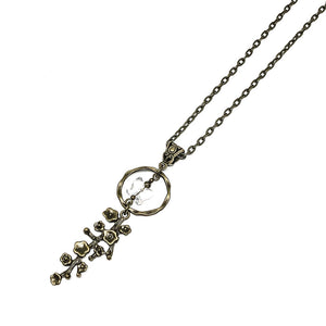 "This brass necklace is designed and handcrafted by a Canadian Artisan with a beautiful swarovski crystal butterfly pendant   This necklace is approximately 32"" in length and pendant is 2.5"" long by 0.5"" wide  Hypoallergenic"