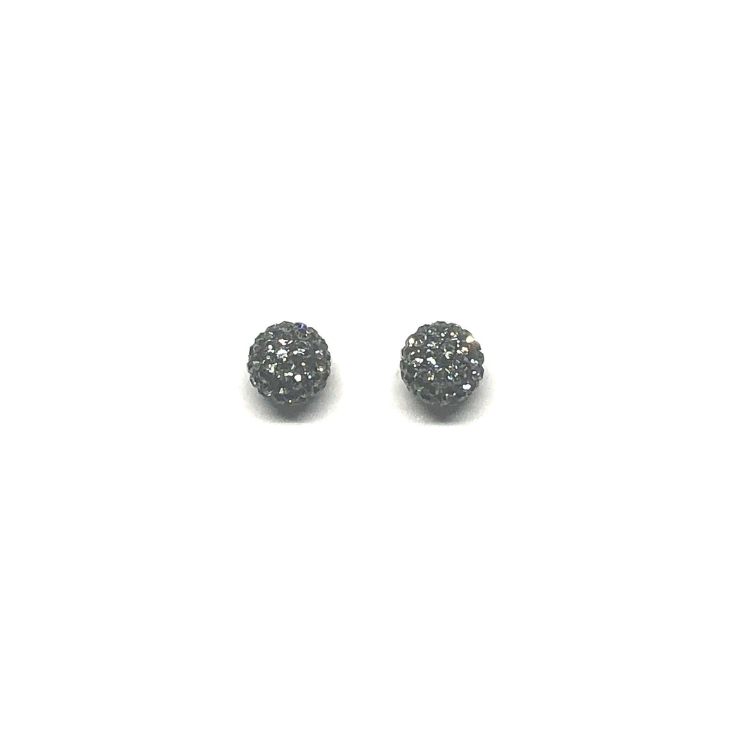 Graphite Sparkle Ball Earring
