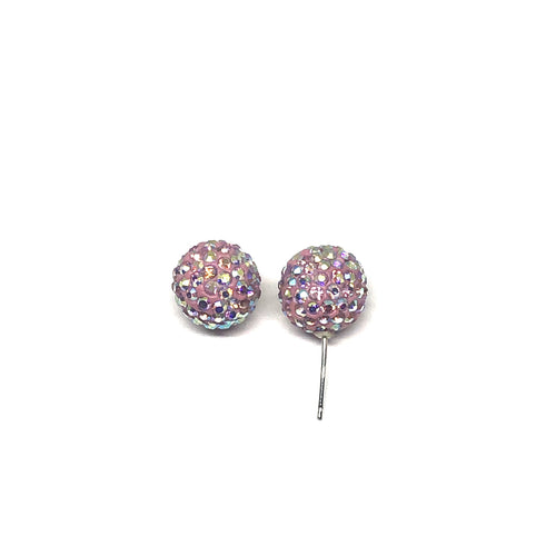 These earrings are only here for a limited time! Only 1 available!  These 12mm genuine pink swarovski crystal studs are hand set in a clay base.  The post and backs are sterling silver   Hypoallergenic, lead and nickel free