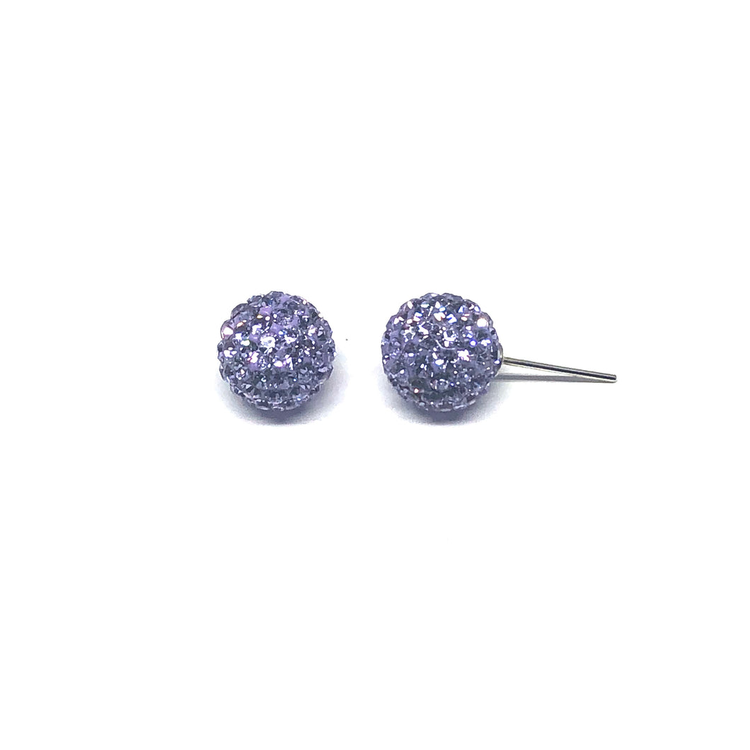 Lavender Sparkle Ball Earring