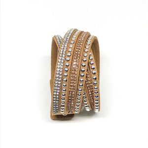 Multilayer Wrap Bracelet - Light Brown