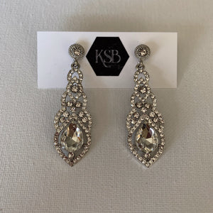 These crystal waterdrop bridal earrings are all that you need to complement your beautiful bridal gown.   They are hypoallergenic, lead, nickel and cadmium free.  They contain high quality czech crystals and rhinestones  From top to bottom of earring is 6 cm in length