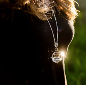 Large Floating Crystal Necklace
