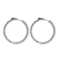 Load image into Gallery viewer, Cubic Zirconia Hoops