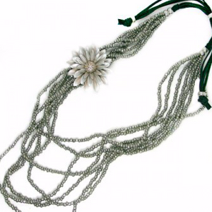 "This necklace is handcrafted by artisans from Bali, Indonesia. All materials to make this necklace come from materials locally sourced. Local artisans hand-craft these original designs, bringing them to life.  This necklace is adjustable so can be worn at the length to suit your outfit.  The longest length of this necklace is 40"", but can be shortened to your preferred length"