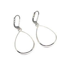 Load image into Gallery viewer, These handcrafted white collection earrings are made with genuine white agate.    The finishings are all white gold plated.   Earrings are 1.5 inches in length   Lead, nickel free and tarnish resistant   These earrings have a frenchback closure.   Designed and handcrafted by Canadian Artisan