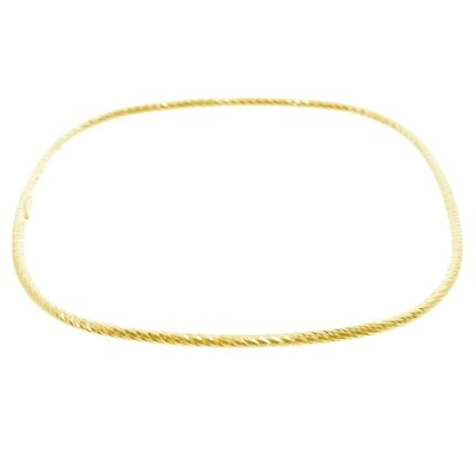 This elegant Italian diamond cut sterling silver bangle can be worn on its own or stacked.    Size: 65x2mm   Gold Plated   Hypoallergenic