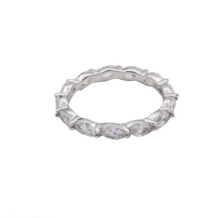 Oval Cubic Zirconia Band