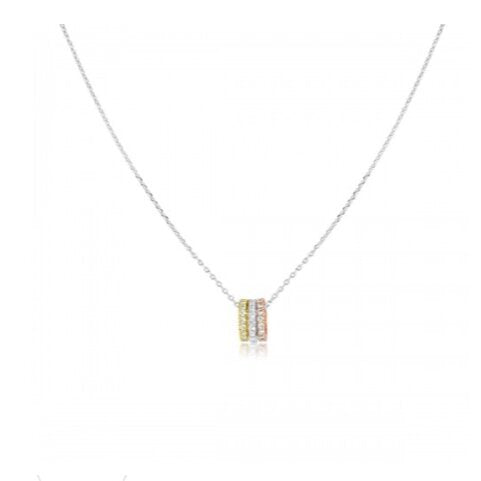 Tri Color Cubic Zirconia Necklace
