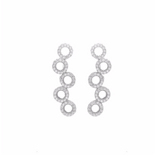 Load image into Gallery viewer, These 925 sterling silver ear climbers are perfect to wear for any occasion  14K Gold and 14k Rose Gold Plated  Each ear climber has high quality cubic zirconia  Lead and nickel free  Hypoallergenic