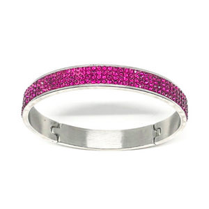 Fuschia Swarovski Crystal Bangle