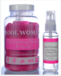 Kool Women Ice Cooling Towel & Spray
