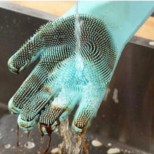 Load image into Gallery viewer, Dishwasher Gloves - Silicone Cleaning Scrubber Dish Washing