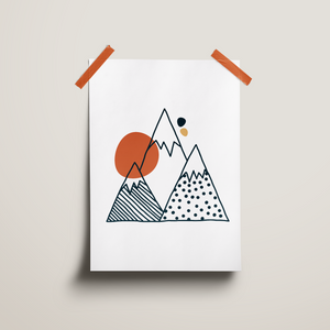 "Poster ""Mountains"" (30 x 40 cm)"