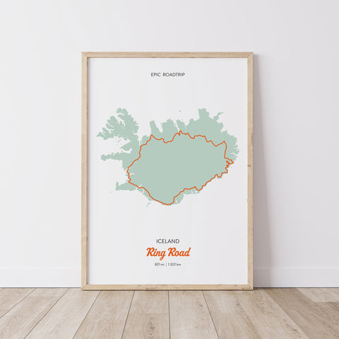 "Poster ""Epic Roadtrips - Iceland"" (70 x 50 cm)"