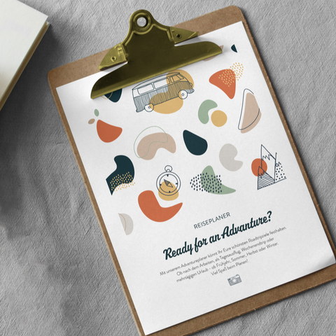 "Printable ""Reiseplaner"" - Aktivitäten Download - Advanture Shop"