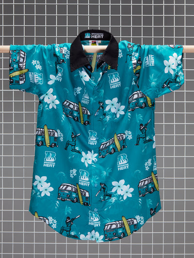 Brisbane Heat Adults Hawaiian Shirt Front