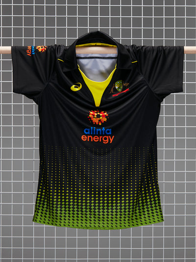 Cricket Australia 2020/21 Men's Replica Black T20 Shirt Front