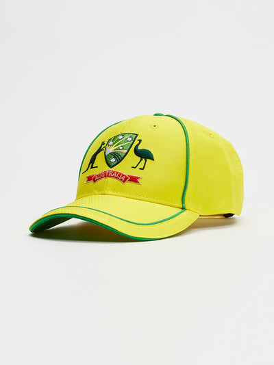Cricket Australia 2020/21 Replica Yellow ODI Home Cap Front