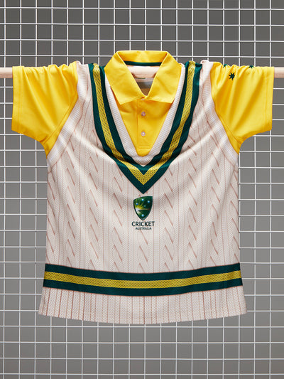 Cricket Australia Adults Vest Pullover Polo Front