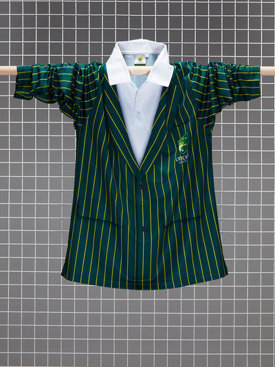 Cricket Australia Adults Long Sleeve Blazer Polo Front