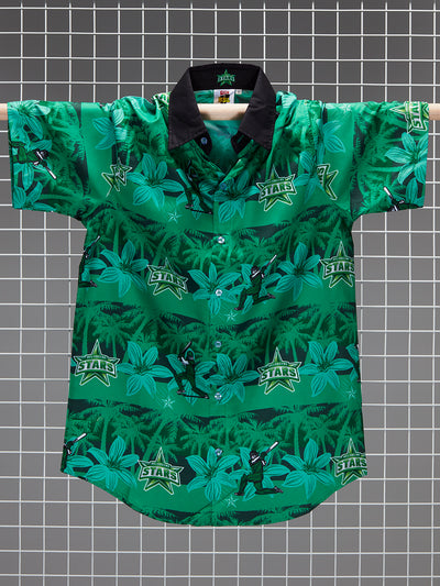 Melbourne Stars Adults Hawaiian Shirt Front