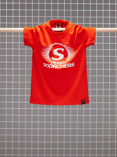 Perth Scorchers 2020/21 Kids Mono Logo T-Shirt - Front