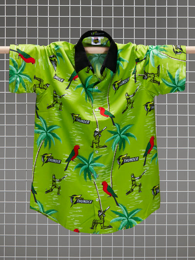 Sydney Thunder Adults Hawaiian Shirt Front