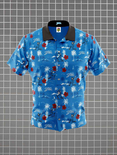 Adelaide Strikers Adults Hawaiian Shirt Front