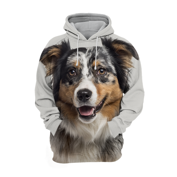Sweats à Capuche Unisexe 3D Graphic Dog - Heureux berger Australien
