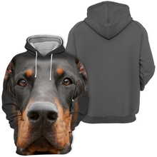 Sweats à Capuche Unisexe 3D Graphic Dog - Doberman Noir