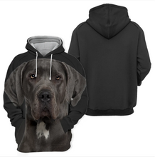 Sweats à Capuche Unisexe 3D Graphic Dog - Dogue Allemand Noir