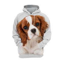 Sweats à Capuche Unisexe 3D Graphic Dog - Chiot Cavalier King Charles Spaniel