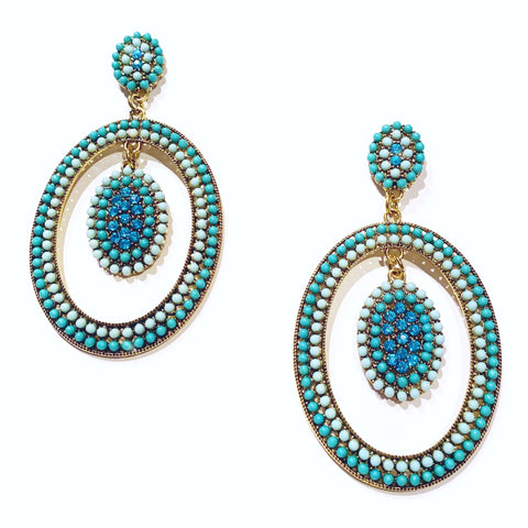 ANNABELLE EARRINGS - BLUE