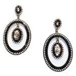 ANNABELLE EARRINGS - BLACK & WHITE